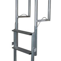 Aluminum Wide Step Lift Dock Ladder
