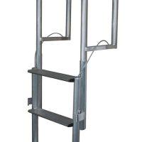 Aluminum Wide Step Lift Dock Ladder