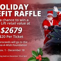 Holiday Benefit Raffle | Boat Lift Warehouse