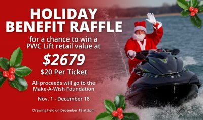 Holiday Benefit Raffle | Boat Lift Warehouse